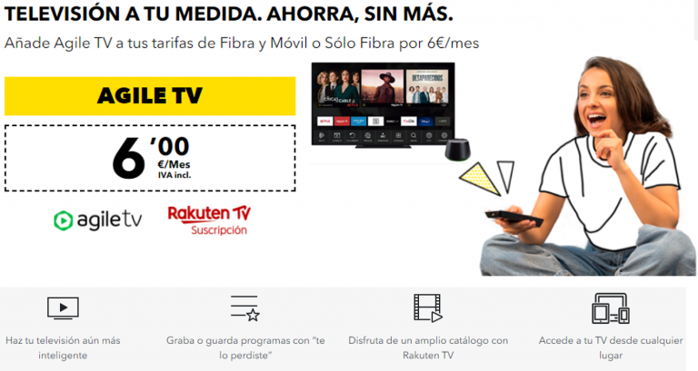 Televión AgileTV con Masmovil
